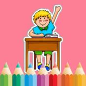 着色书 儿童的学校 1