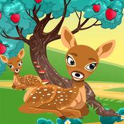 活动! 大小的游戏让孩子们学习,并与森林的动物玩 1