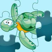 活动! 拼图海洋动物为学龄前儿童和家长 1