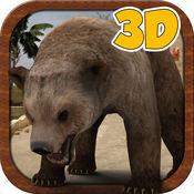 3D熊模拟器 - 疯狂的野生城市猎人模拟游戏 1