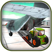 3D农用拖拉机货物飞机飞行员 1