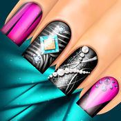 3D美甲沙龙:花式指甲水疗游戏的女孩做可爱的指甲设计