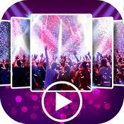 派对 幻灯片 与 音乐 和 视频 编辑器