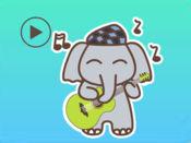 大象滑稽的动画贴纸 1