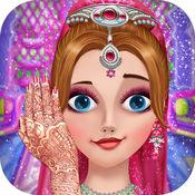 印度新娘时尚女孩的婚礼化妆游戏 1