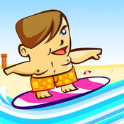 真棒波冲浪男孩亲 - 播放速度的赛车运动游戏 1.4