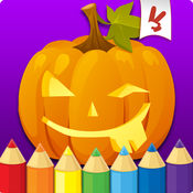 万圣节着色书幼儿:儿童绘画,绘画和涂鸦儿童游戏 1.2
