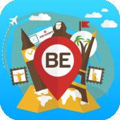 比利时 离线旅游指南和地图。城市观光 布鲁塞尔,布鲁日,安
