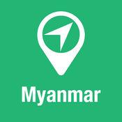 大指南 缅甸 地图+旅游指南和离线语音导航 1