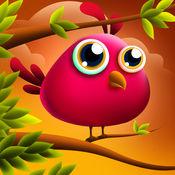 跳跃可爱的羽毛:鸟微小学习飞行 - 免费版 2
