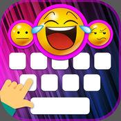 有趣的打字键盘 – 可爱的表情符号和字体 1