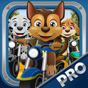 动物小狗体育自行车 – 赛车游戏与宠物狗为孩子们 Bike Ra