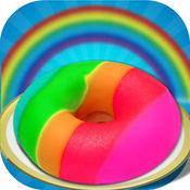 DIY彩虹甜甜甜圈蛋糕制造者 - 甜甜圈厨师 1