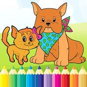 狗与猫图画书 - 所有在1拉丝漆面和颜色游戏对于儿童 1.1