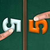 两名球员 数学游戏 凉爽孩子女孩男孩十几岁 – 学校教育 M