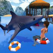 饥饿的鲨鱼袭击...