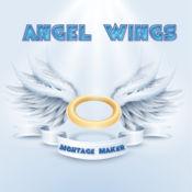 天使的翅膀照片蒙太奇 – 打扮在守护基路伯用这个贴纸 1