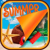 炎热的夏天壁纸 – 装饰用的热带海滩背景图片您的主屏幕 1