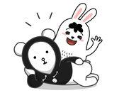 熊宝和胖胖兔动态贴图 1