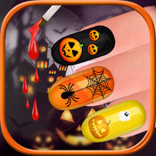 万圣节指甲彩绘 – 可怕的幽灵和怪物指甲 1