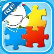 拼图益智游戏为孩子们的蓝色机器猫 1