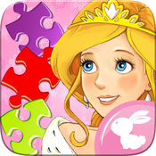 公主 卡通 拼图游戏 女孩 和孩子们 1