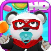 熊猫宝宝熊糖果雨高清 - 玩转云跳版免费游戏! Baby Panda B