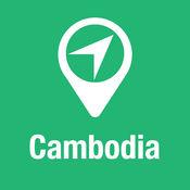 大指南 柬埔寨 地图+旅游指南和离线语音导航 1