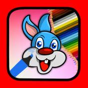 为孩子们画兔游戏动物彩页 1