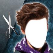 男性发型照片蒙...