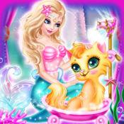 美人鱼护士护理宠物猫- 女孩装扮游戏 1.2