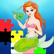 人鱼公主拼图的趣味游戏为孩子 1