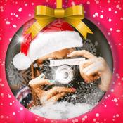 圣诞快乐照片贴纸: 图片编辑器效果 1