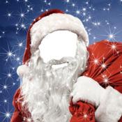 你的 快活 圣诞 面对 在 照片 蒙太奇 与 圣诞老人 精灵 和