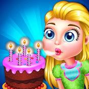 儿童蛋糕制造商美食烹饪游戏的女孩 1