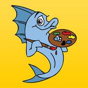 儿童图画书 - 素描卡通海洋动物绘画趣味 1.0.0