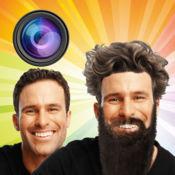 男人 虚拟 美发师 店 头发 胡须 胡子 改造 照片 剪辑 1