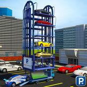 多层停车场起重机驾驶模拟器3D