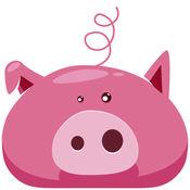小猪苹果 - 跷跷板的粉色动物! 1