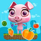 小猪跳 › 饥饿的仔猪 无尽的的跳跃游戏 1