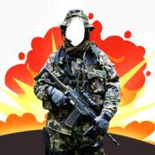 军事照片蒙太奇 – 装扮成士兵和创造梦幻般的照片蒙太奇 1