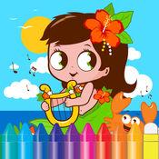 儿童动物花卉图画书 - 图纸进行儿童游戏 1