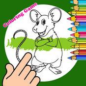 疯狂小鼠为孩子着色书 1