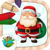 圣诞节的颜色 - 着色图纸的孩子 3