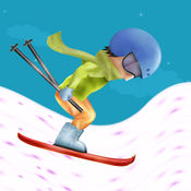 真棒滑雪山骑手...