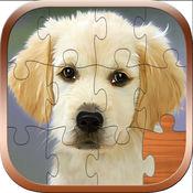 狗拼图儿童游戏...