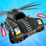 射击飞行汽车:直升机汽车射 1
