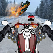 拍摄摩托车车手 - 公路交通赛车 1