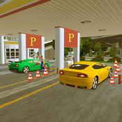 极限运动车停车场和加油站洗车 1