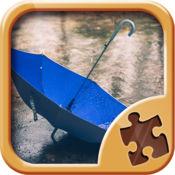 雨拼图游戏 - 益智遊戲 1